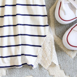 The Boyfriend Stripe Tank in Navy: Alternate View #3