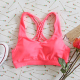 Spool Active Braided Sports Bra in Pink: Alternate View #2