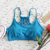 Spool Active Braided Sports Bra in Sky: Alternate View #2