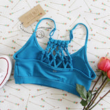 Spool Active Braided Sports Bra in Sky: Alternate View #1