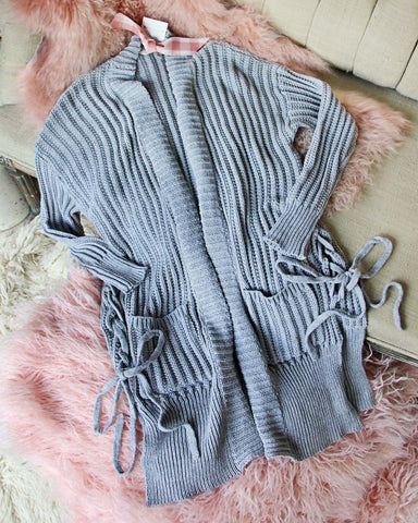 Braided Tie Sweater