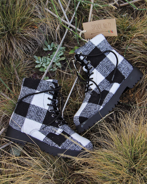 The Buffalo Plaid Boots: Featured Product Image