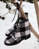 The Buffalo Plaid Boots: Alternate View #1