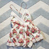 Buffalo Rose Romper in Cream: Alternate View #2