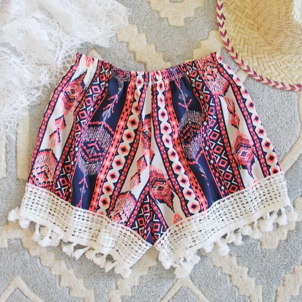 Cabana Fringe Shorts: Featured Product Image