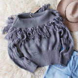 Cable & Feather Sweater in Gray: Alternate View #1