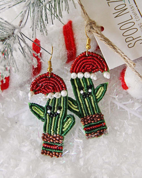 Christmas Cactus Earrings: Featured Product Image