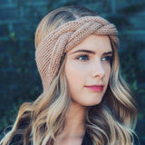 Fall Festival Headwrap in Wheat: Alternate View #1