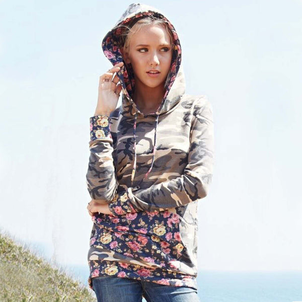 Camo Rose Hoodie: Featured Product Image