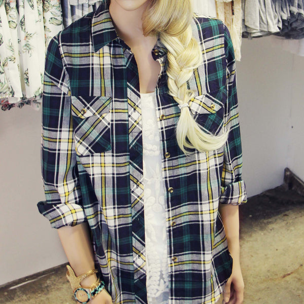 The Campfire Plaid Top: Featured Product Image