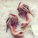 Canyon Fringe Heels: Alternate View #1