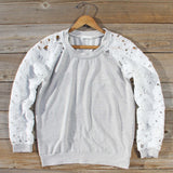 Canyon Lace Sweatshirt: Alternate View #1