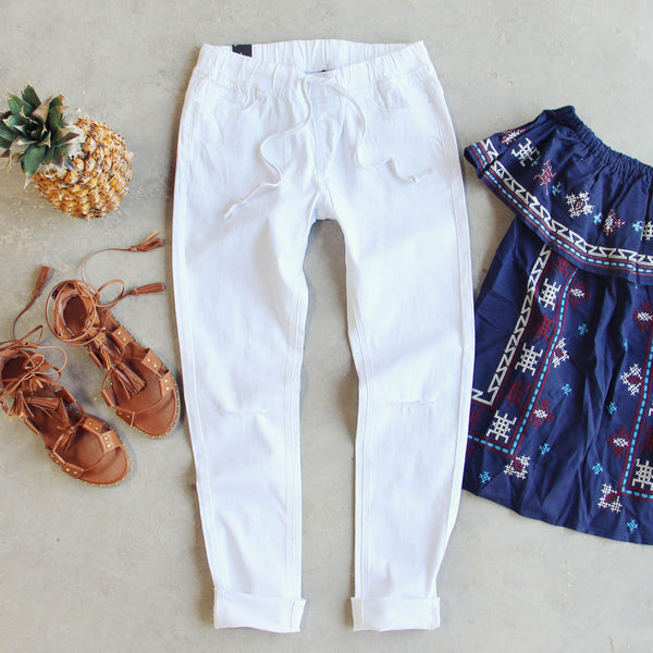 Canyon Sugar Pants in White: Featured Product Image