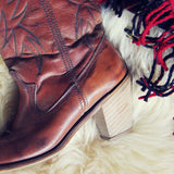 Caramel Stitch Vintage Boots: Alternate View #2