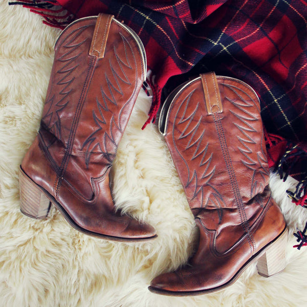 Caramel Stitch Vintage Boots: Featured Product Image