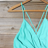 Caravan Romper in Mint: Alternate View #2