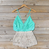 Caravan Romper in Mint: Alternate View #4