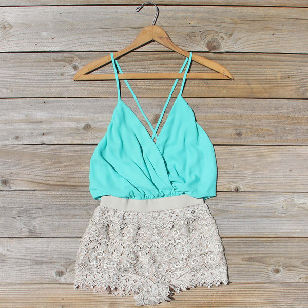 Caravan Romper in Mint: Featured Product Image