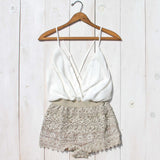 Caravan Romper in White: Alternate View #2