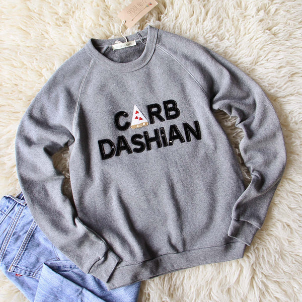 Bow & Drape Carb Dashian Sweatshirt: Featured Product Image