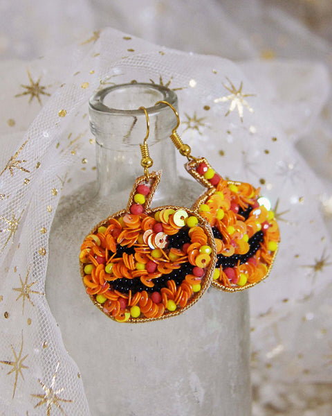 Pumpkin Carving Earrings: Featured Product Image