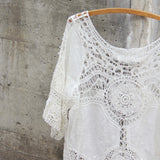 Casa Blanca Lace Top: Alternate View #2