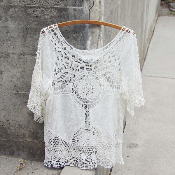 Casa Blanca Lace Top: Featured Product Image