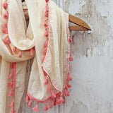 Moroccan Sunset Scarf in Cream: Alternate View #2