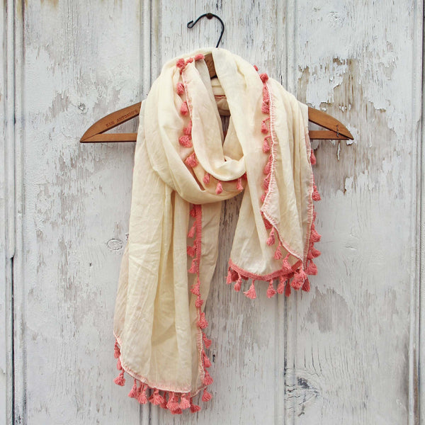 Moroccan Sunset Scarf in Cream: Featured Product Image