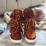 Cedar Fringe Booties: Alternate View #2