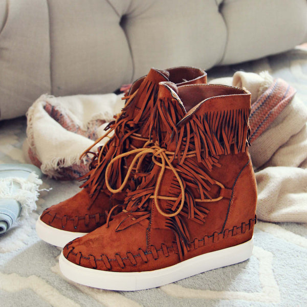 Cedar Fringe Booties: Featured Product Image