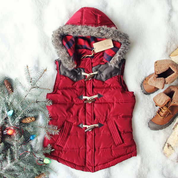 Chalet Cozy Vest in Burgundy: Featured Product Image