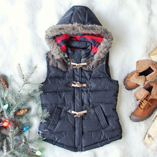 Chalet Cozy Vest in Navy: Featured Product Image
