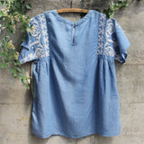 Chambray Boheme Top (wholesale): Alternate View #4