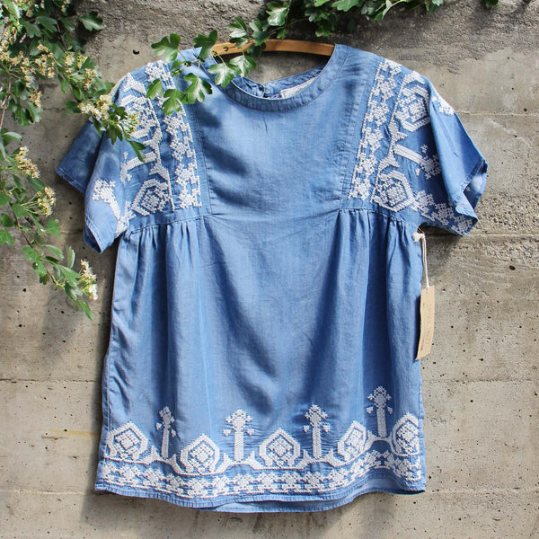 Chambray Boheme Top: Featured Product Image