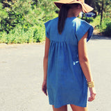 Chambray Clouds Dress: Alternate View #2