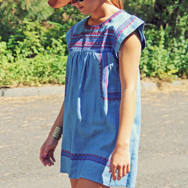 Chambray Clouds Dress: Featured Product Image