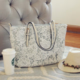 Lace & Chambray Tote: Alternate View #3