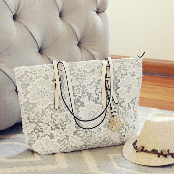 Lace & Chambray Tote: Featured Product Image