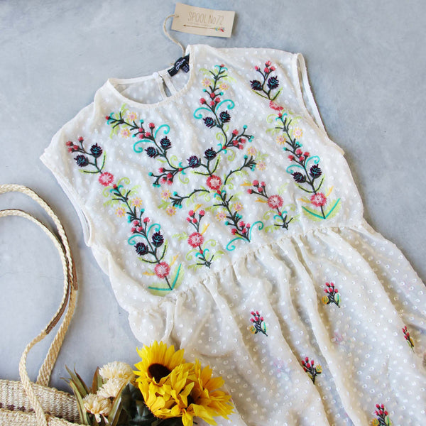 Chateau Embroidered Dress: Featured Product Image