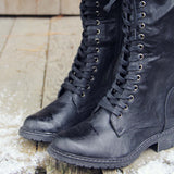 The Chehalis Boots in Black: Alternate View #2