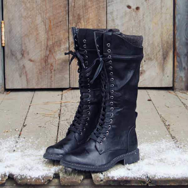 The Chehalis Boots in Black: Featured Product Image