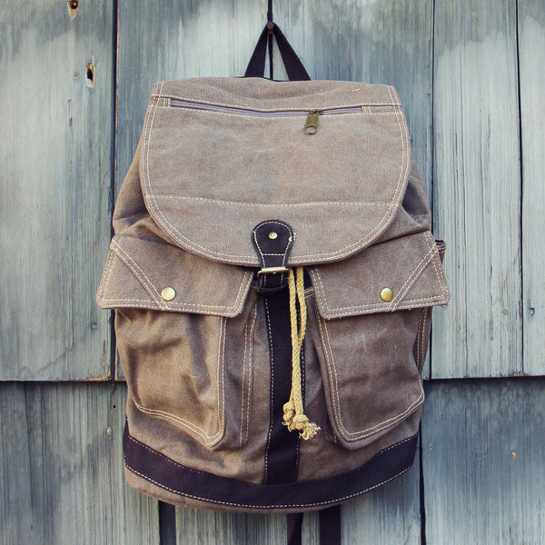 Cheyenne Rugged Backpack in Brown: Featured Product Image
