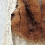 Chumstick Faux Fur Vest in Honey: Alternate View #3