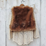 Chumstick Faux Fur Vest in Honey: Alternate View #4