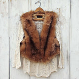Chumstick Faux Fur Vest in Honey: Alternate View #1