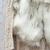 Chumstick Faux Fur Vest in Snow: Alternate View #3