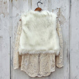 Chumstick Faux Fur Vest in Snow: Alternate View #4