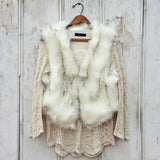 Chumstick Faux Fur Vest in Snow: Alternate View #1