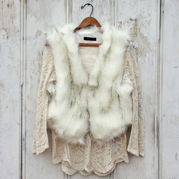 Chumstick Faux Fur Vest in Snow: Featured Product Image